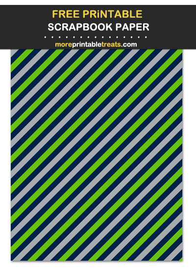 Free Printable Blue, Green, and Gray Candy Striped Scrapbook Paper