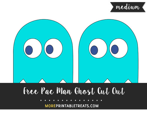 Free Blue Pac Man Ghost (Inky) Cut Out - Medium
