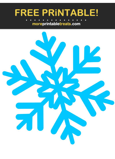 Free Printable Blue Snowflake Cut Out