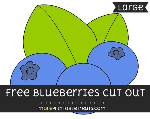 Free Blueberries Cut Out - Large size printable