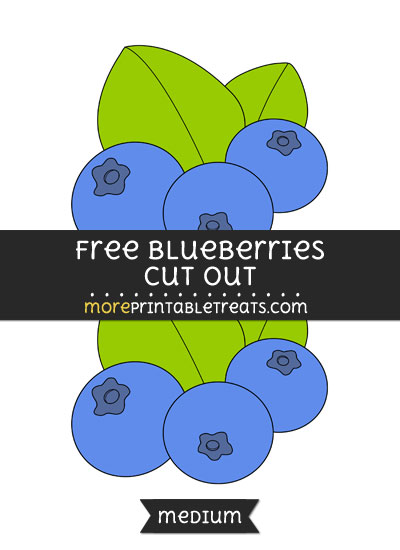 Free Blueberries Cut Out - Medium Size Printable