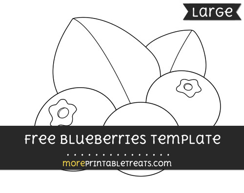 Free Blueberries Template - Large