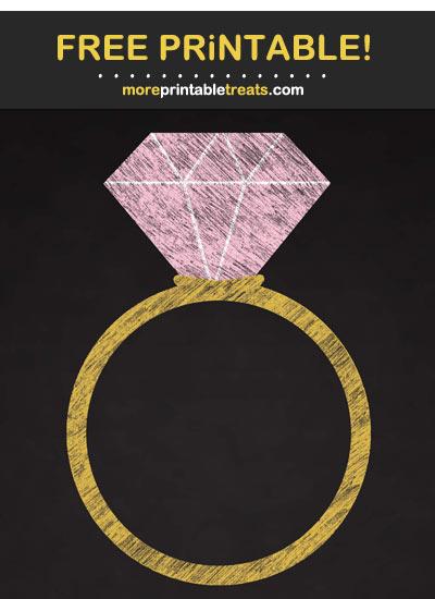 Free Printable Blush Pink Chalk-Style Engagement Ring