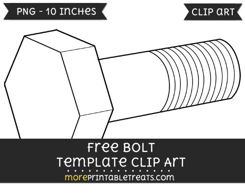 Free Bolt Template - Clipart