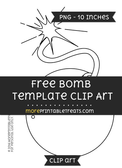 Free Bomb Template - Clipart