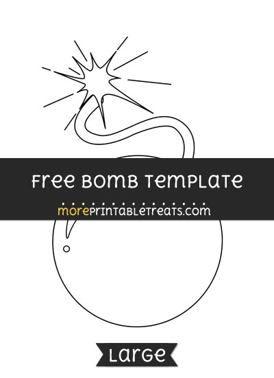 Free Bomb Template - Large