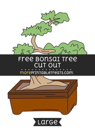 Free Bonsai Tree Cut Out - Large size printable