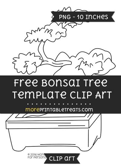 Free Bonsai Tree Template - Clipart