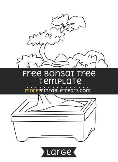 Free Bonsai Tree Template - Large