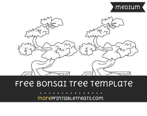 Free Bonsai Tree Template - Medium