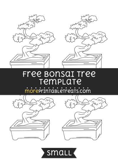 Free Bonsai Tree Template - Small