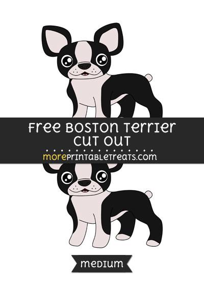Free Boston Terrier Cut Out - Medium Size Printable