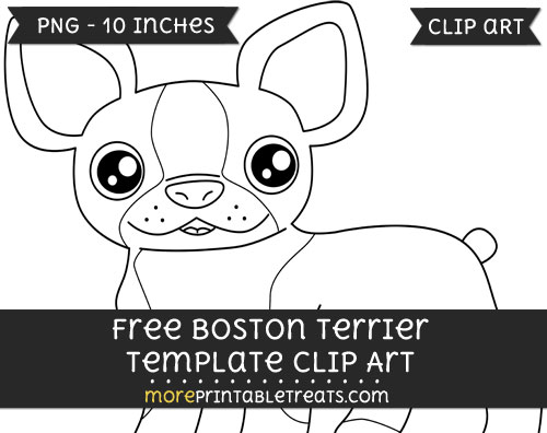 Free Boston Terrier Template - Clipart