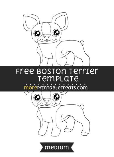 Free Boston Terrier Template - Medium