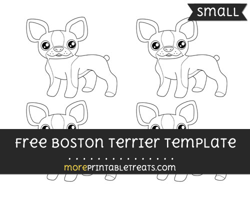 Free Boston Terrier Template - Small