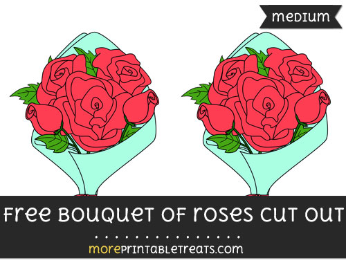 Free Bouquet Of Roses Cut Out - Medium Size Printable
