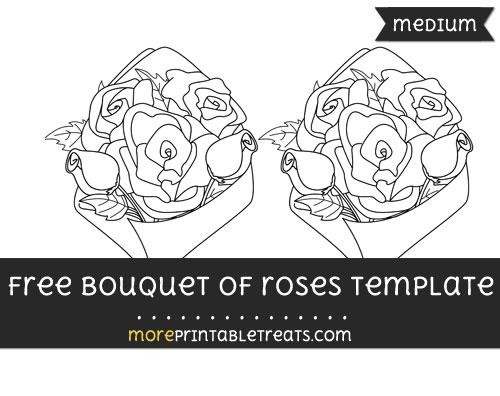 Free Bouquet Of Roses Template - Medium