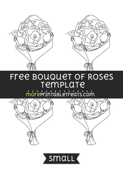 Free Bouquet Of Roses Template - Small