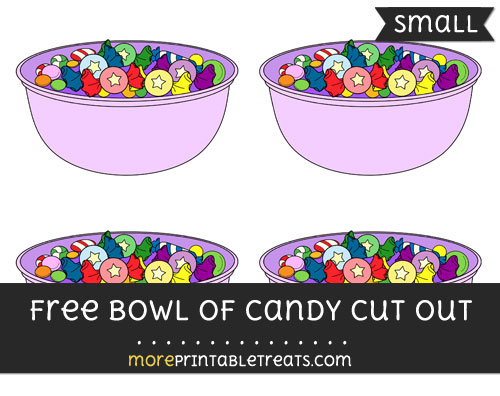 Free Bowl Of Candy Cut Out - Small Size Printable