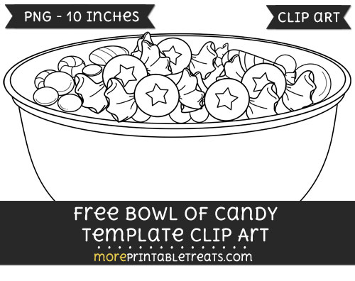 Free Bowl Of Candy Template - Clipart