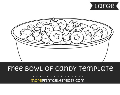 Free Bowl Of Candy Template - Large