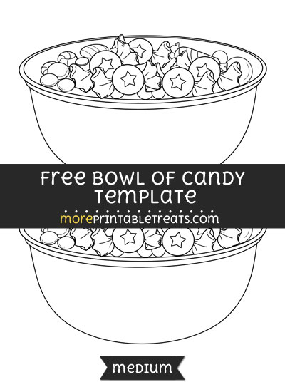 Free Bowl Of Candy Template - Medium