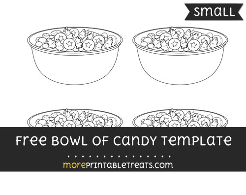 Free Bowl Of Candy Template - Small