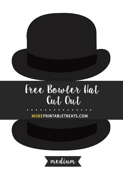 Free Bowler Hat Cut Out - Medium