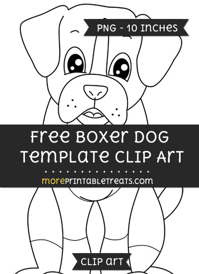 Free Boxer Dog Template - Clipart