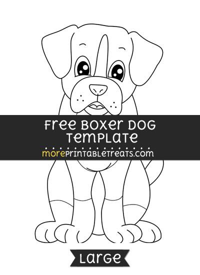 Free Boxer Dog Template - Large