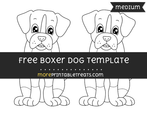 Free Boxer Dog Template - Medium