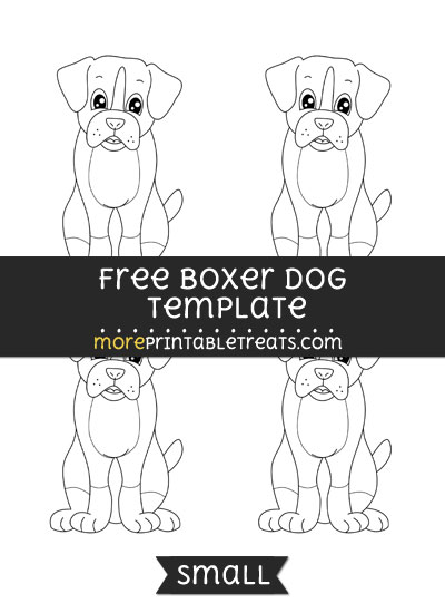 Free Boxer Dog Template - Small