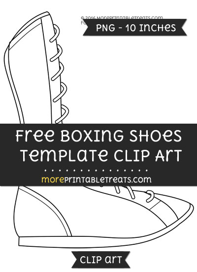 Free Boxing Shoes Template - Clipart
