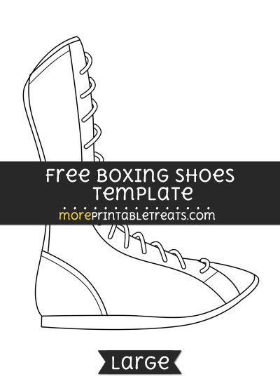 Free Boxing Shoes Template - Large