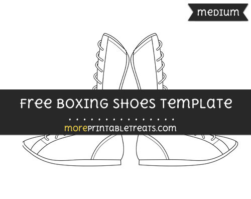 Free Boxing Shoes Template - Medium