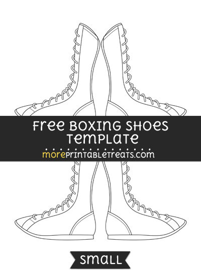 Free Boxing Shoes Template - Small