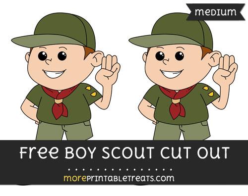Free Boy Scout Cut Out - Medium Size Printable