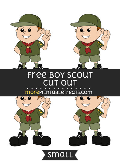 Free Boy Scout Cut Out - Small Size Printable