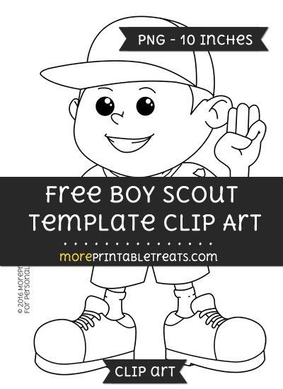 Free Boy Scout Template - Clipart