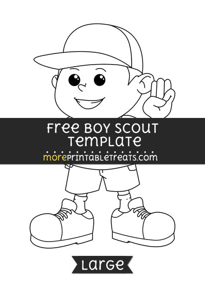 Free Boy Scout Template - Large