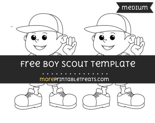 Free Boy Scout Template - Medium