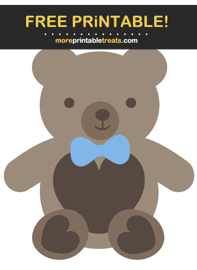 Free Printable Boy Teddy Bear Cut Out