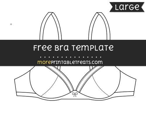 Free Bra Template - Large