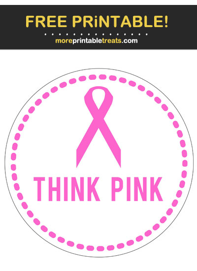 Free Printable Breast Cancer Awareness Badge Cut Out