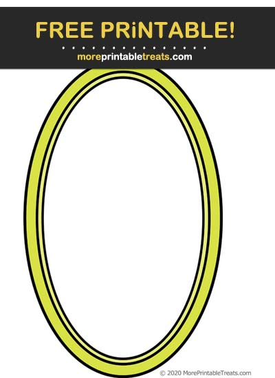 Free Printable Bright Green Oval Frame Cut Out