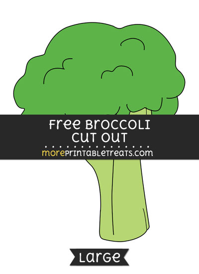 Free Broccoli Cut Out - Large size printable