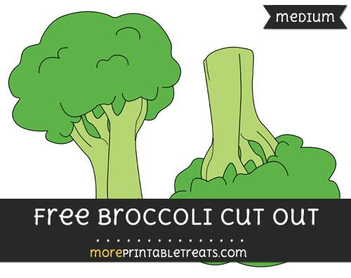 Free Broccoli Cut Out - Medium Size Printable
