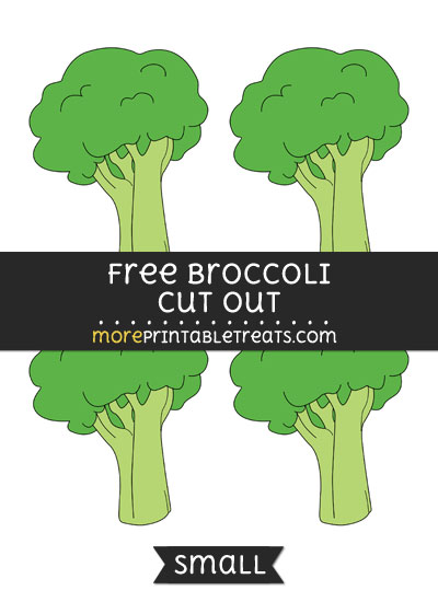 Free Broccoli Cut Out - Small Size Printable