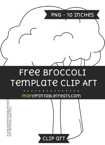 Free Broccoli Template - Clipart