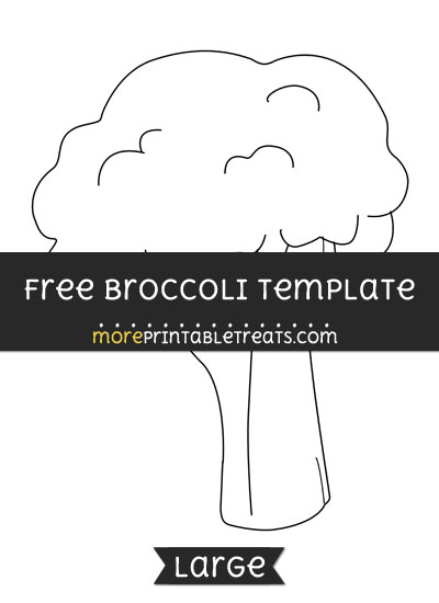 Free Broccoli Template - Large